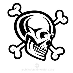 300x300 14125 Skull And Bones Clip Art Public Domain Vectors