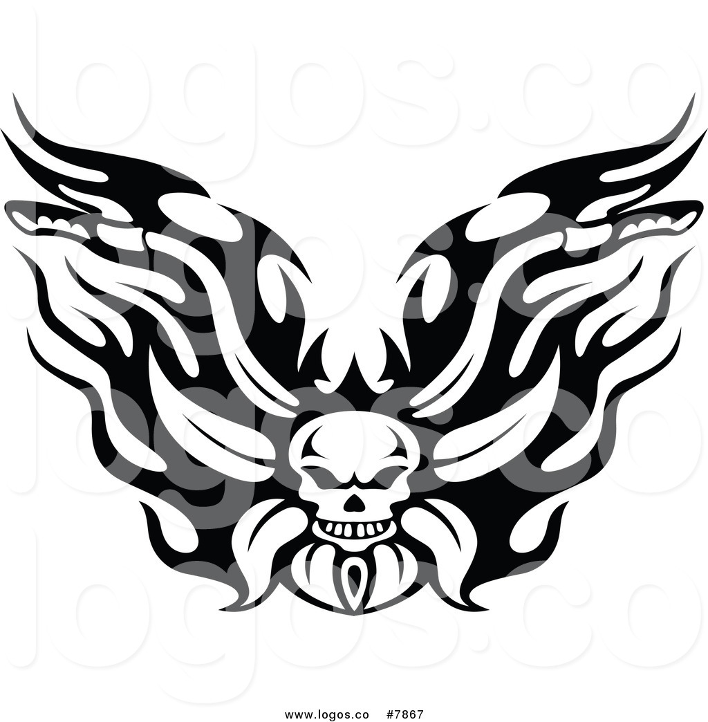 1024x1044 Royalty Free Clip Art Vector Black And White Flaming Skull