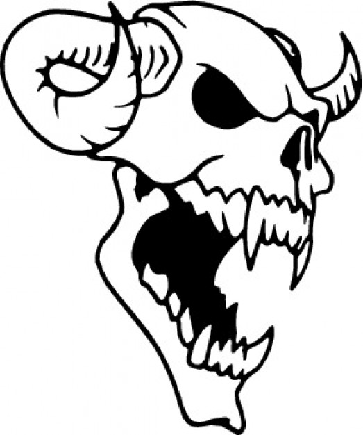 523x626 Skull Clip Art Illustration Vector Vector Free Download