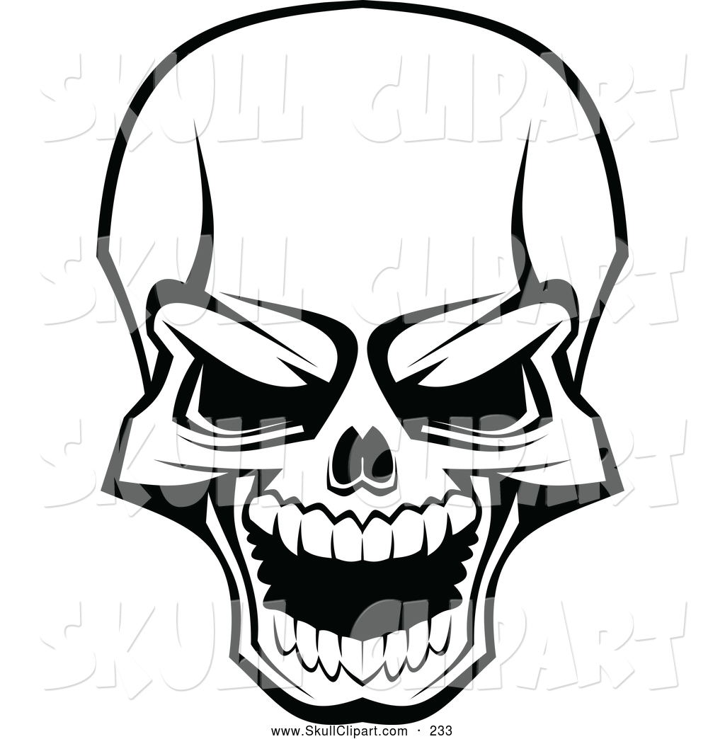 1024x1044 Vector Clip Art Of A Scary Skull Laughing On White By Vector