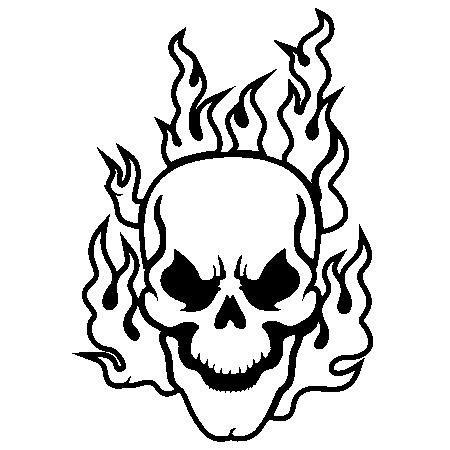 450x450 Flaming Skull Clipart