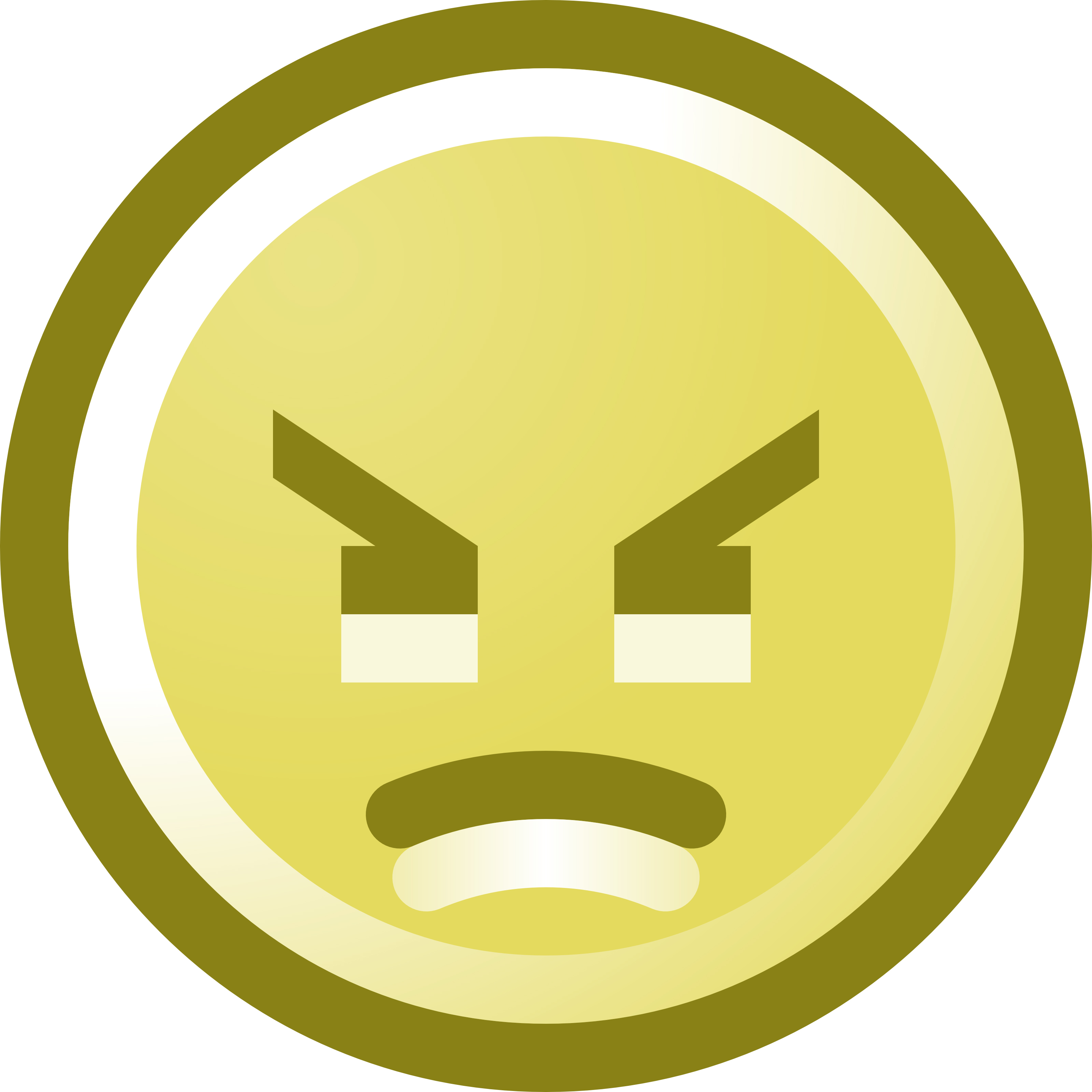 3200x3200 Angry Smiley Face Clip Art Illustration