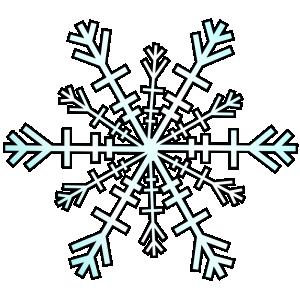 300x300 Top 75 Snowflake Clip Art