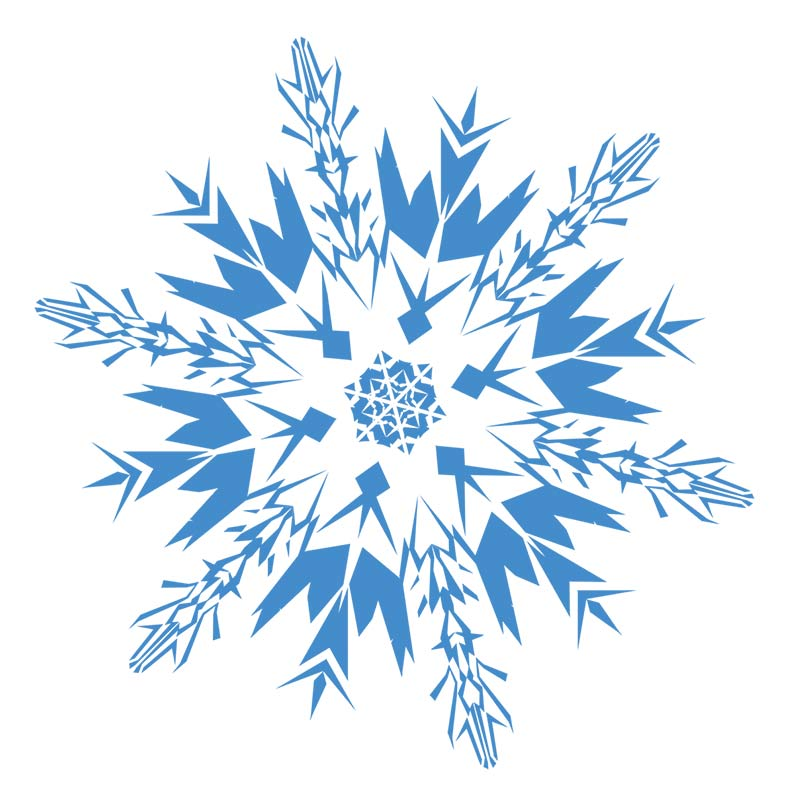 800x800 Snowflakes Snowflake Clipart Black And White Free