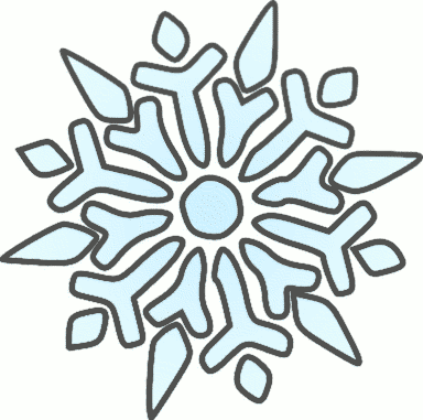 384x381 Free Snowflake Clipart