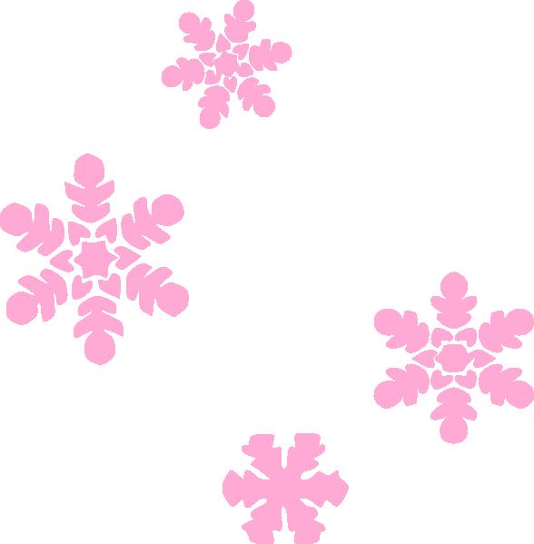 588x599 Snowflakes Light Pink Clip Art