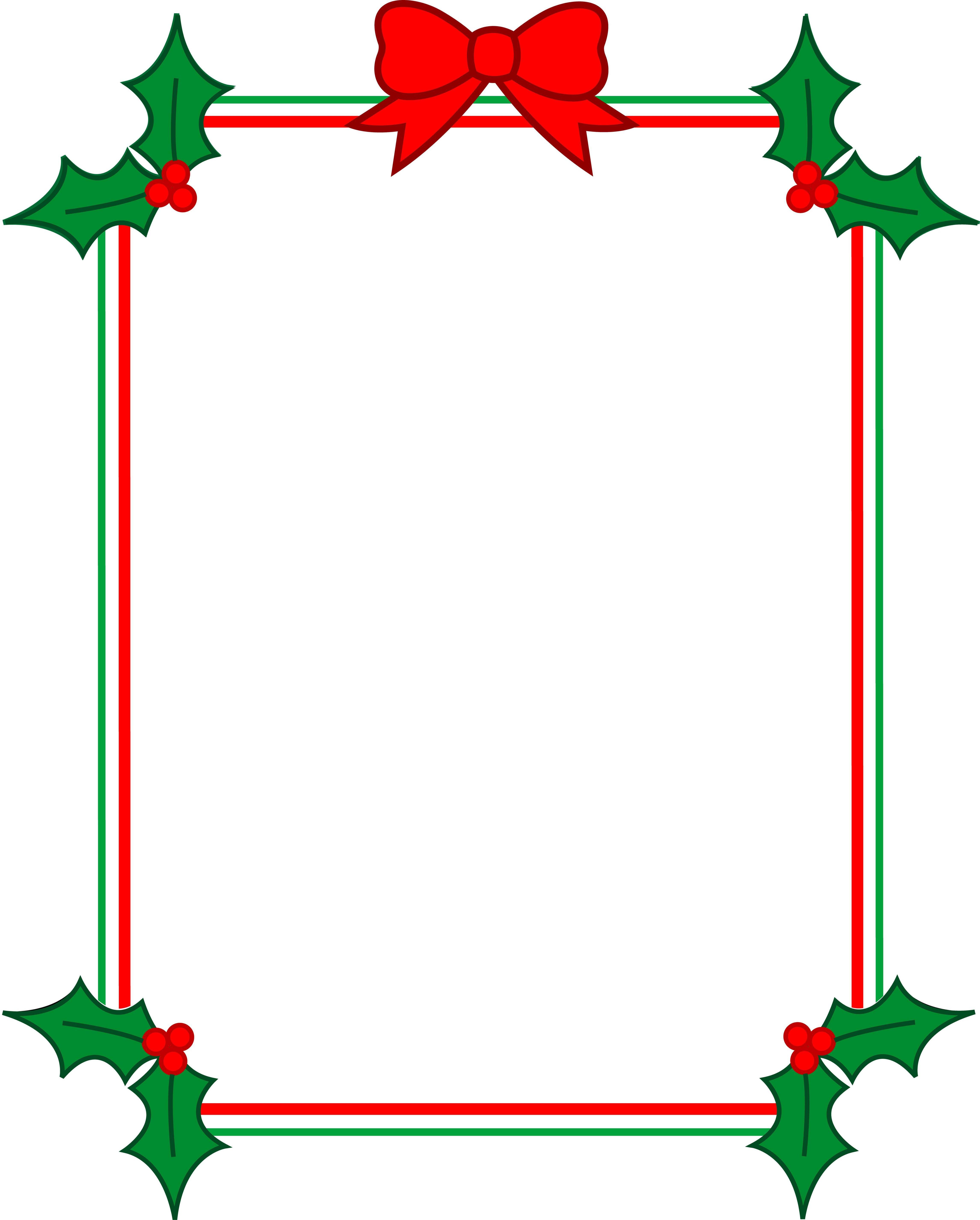 4581x5700 Christmas Borders Clip Art Download