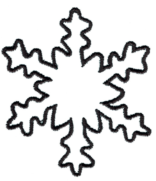 516x600 Snowflake Outline Clipart Kid 2