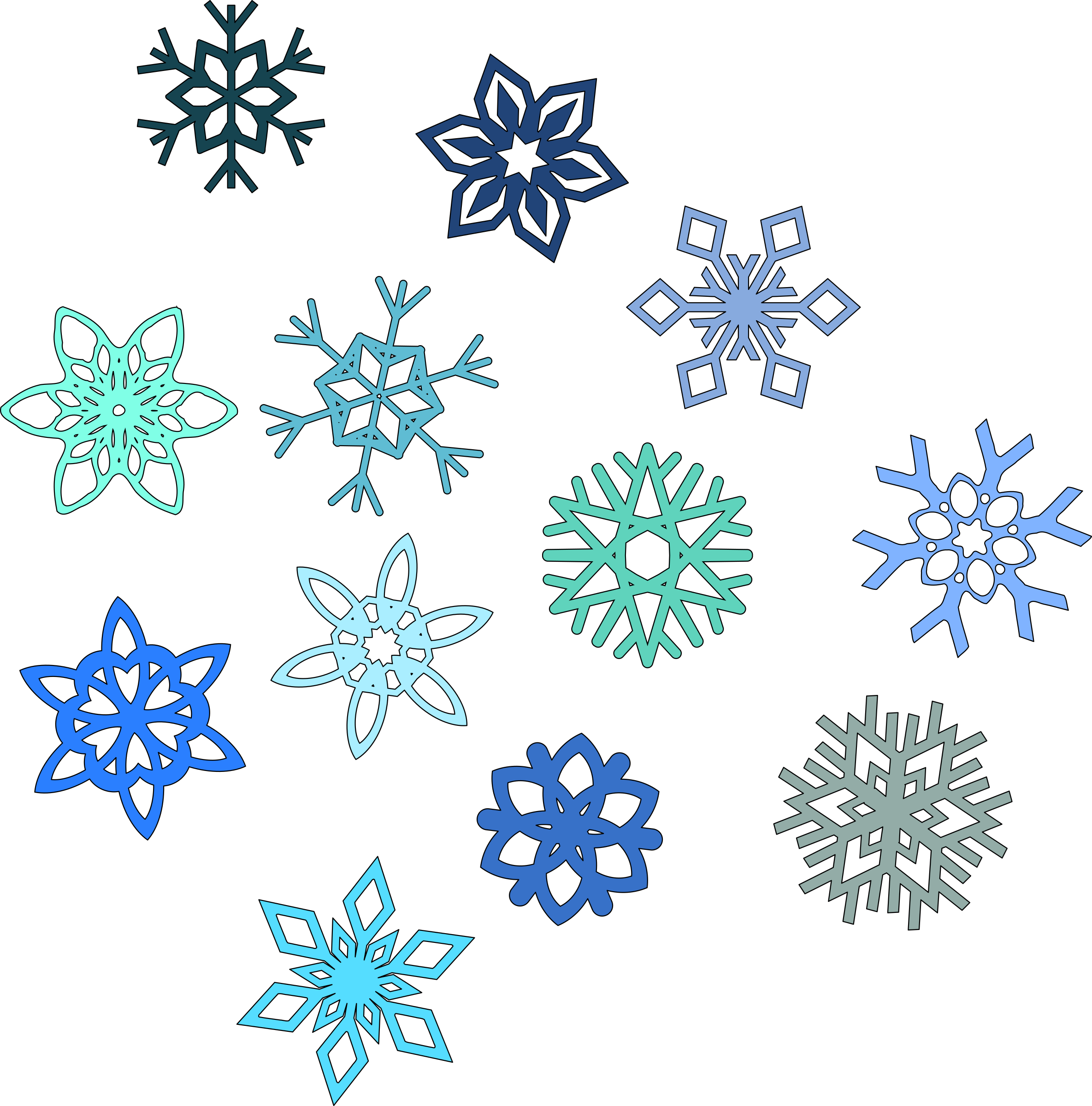 2369x2400 Snowflakes Snowflake Clipart Transparent Background Free