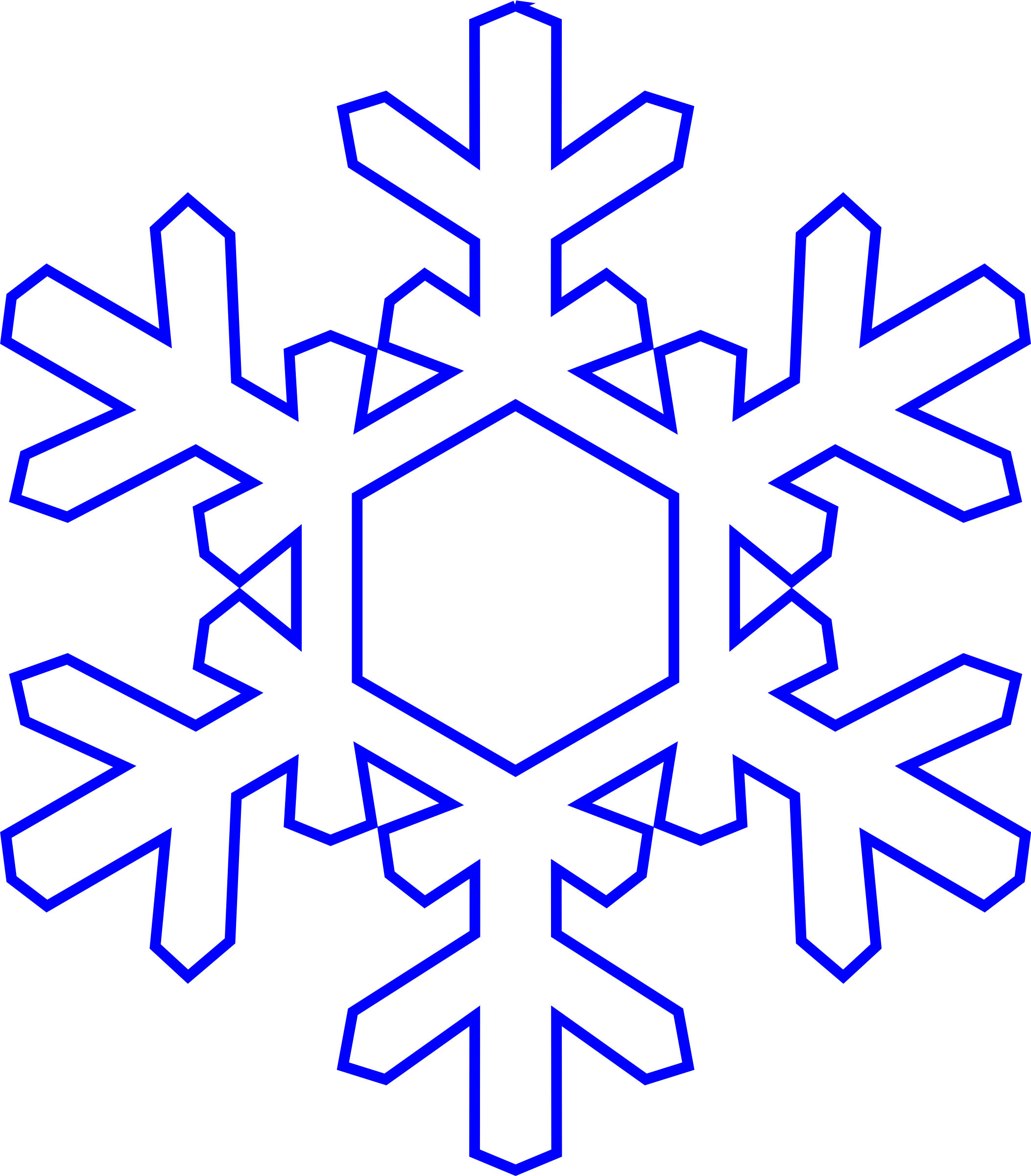 2105x2400 Vector Clipart Snowflake