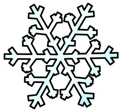 400x372 White Snowflake Clipart