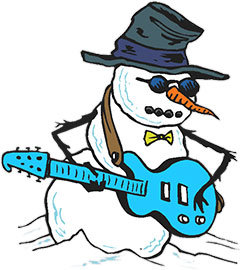 240x270 Snowman Clipart Rock And Roll