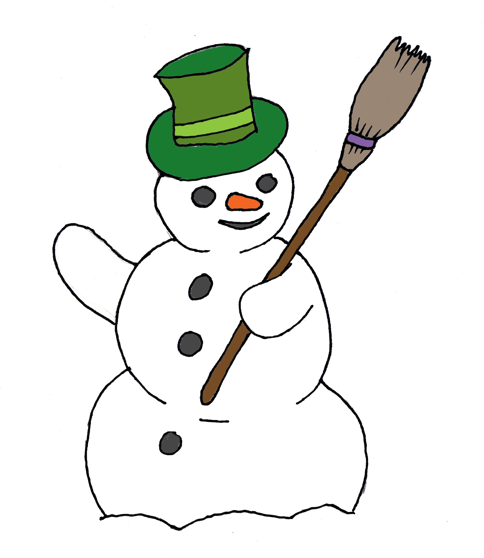 1690x1948 Snowman Black And White Free Snowman Clipart Black And White