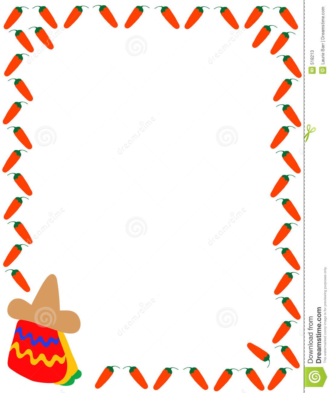 1095x1300 Mexican Food Border Clipart