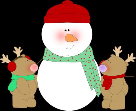 470x386 Reindeer Border Clipart