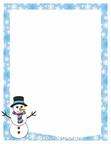470x608 Snowman Border Clip Art, Page Border, And Vector Graphics