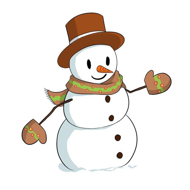 736x736 Cute Christmas Snowman Clipart Free