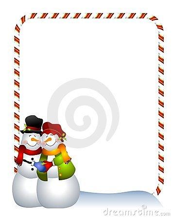 354x450 Snowman Clipart Border