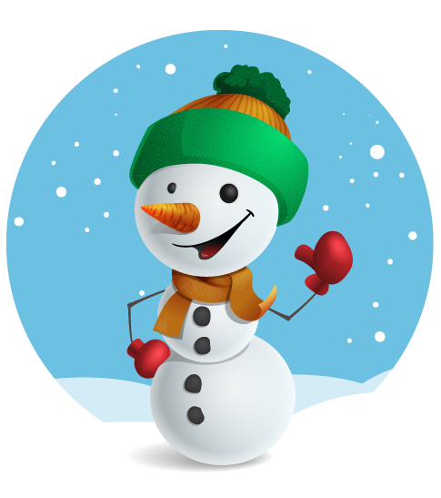 485x547 Cute Snowman Clipart