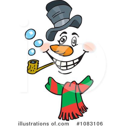400x420 Snowman Clipart
