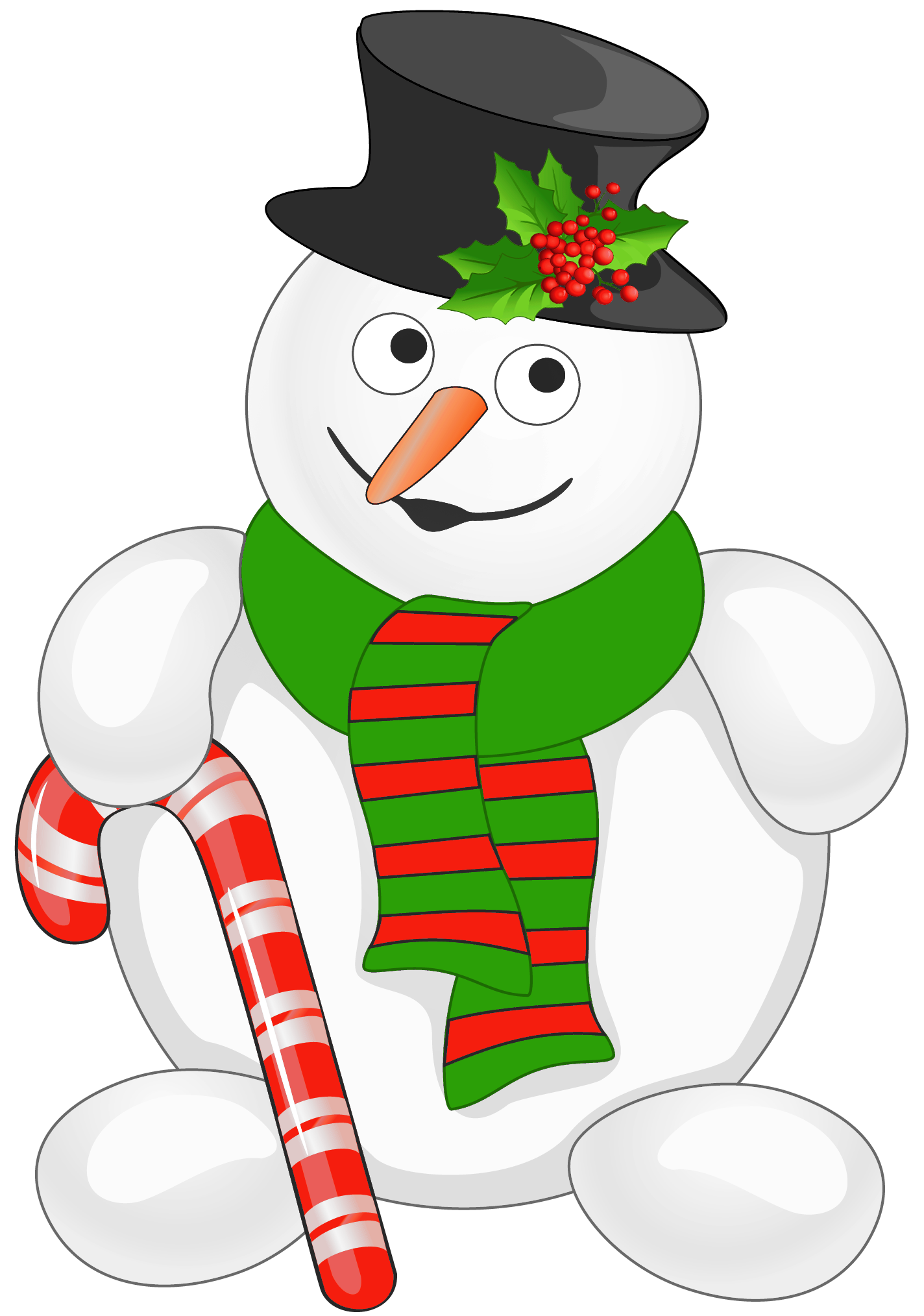 1424x2028 Snowman With Candy Cane Png Clipartu200b Gallery Yopriceville