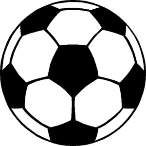300x300 Soccer Clip Art Black And White Free Clipart Images