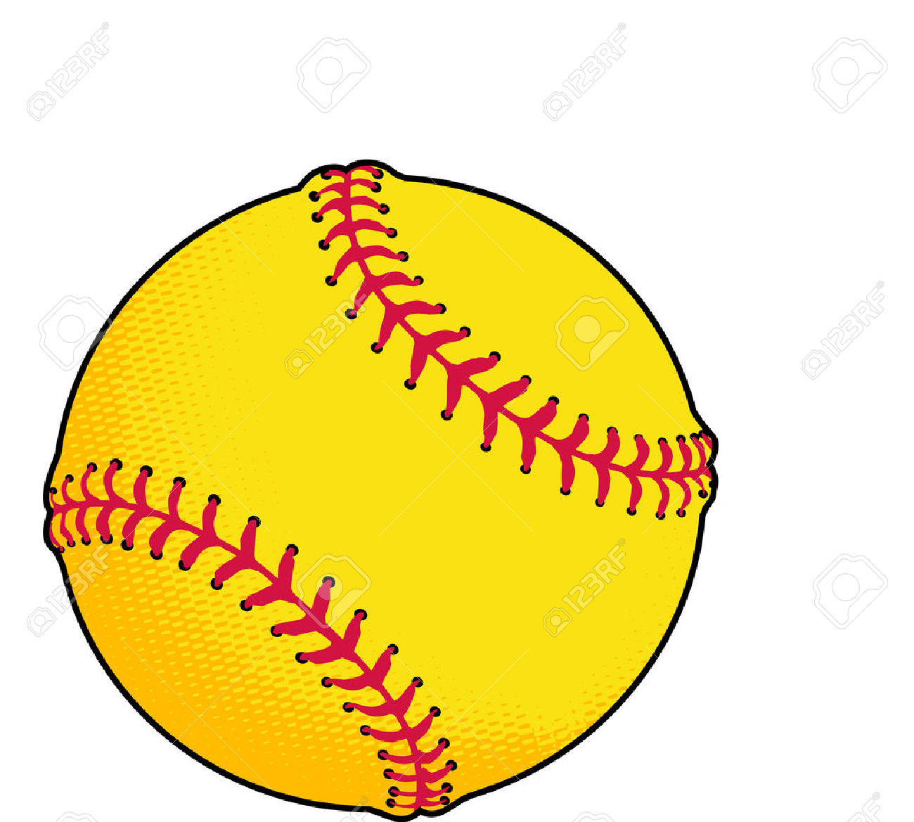Softball vector. Free clipart download best