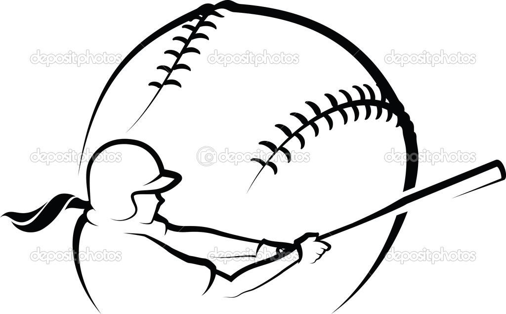 1024x635 Softball Batter Clipart