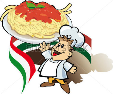 379x315 Italian Chef Clipart