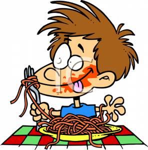 296x300 Toddler Eating Spaghetti