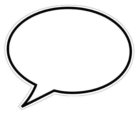 439x360 Thought Bubble Word Bubble Speech Clip Art