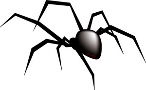 300x184 Black And White Spider Clipart