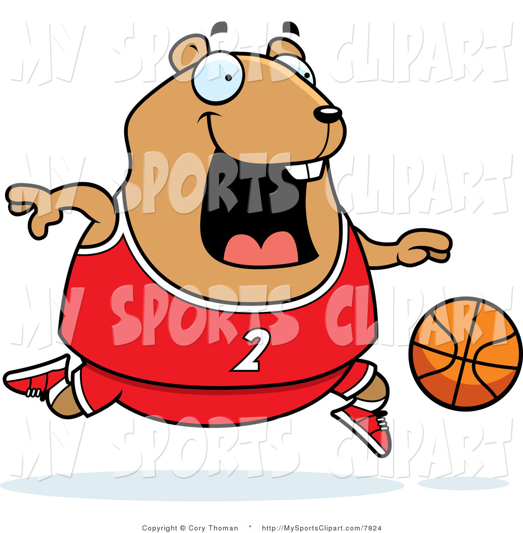 1024x1044 Sports Clip Art Of A Hamster Playing Basketball With A Number 2