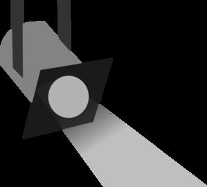 299x270 Spotlight Grey Scale 5 Clip Art