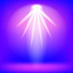 150x150 Spotlight On Purple Background Royalty Free Vector Clip Art Image