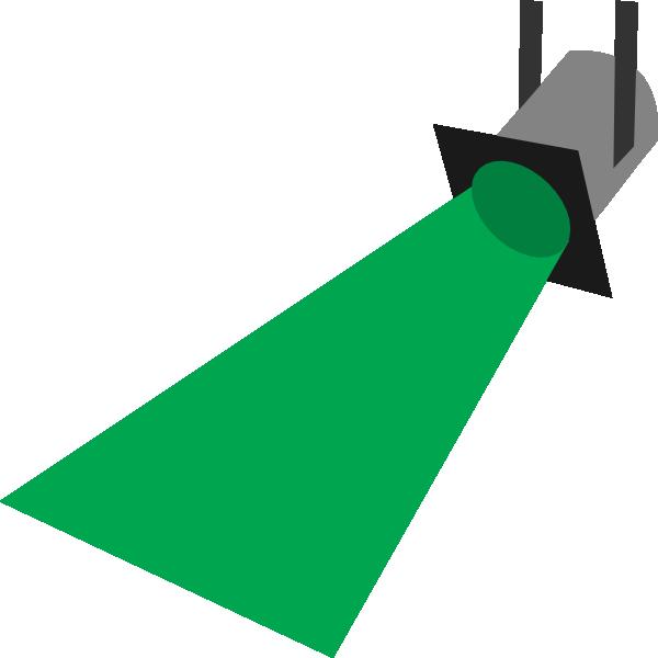 600x600 Green Spotlight Clipart