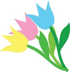 294x300 Free Tulips Clip Art Image