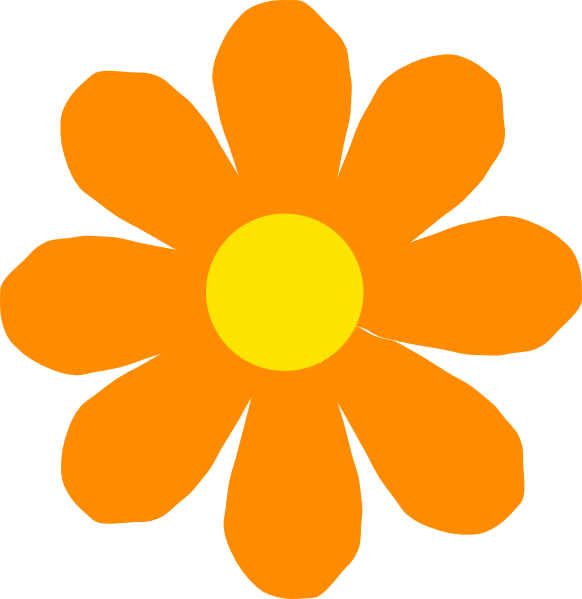 582x599 Orange Flower Clipart Spring Flower