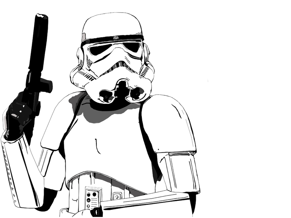 973x730 Storm Trooper Colouring Pages Clipart