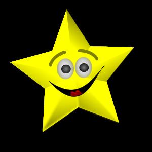 300x300 Free Clipart Stars