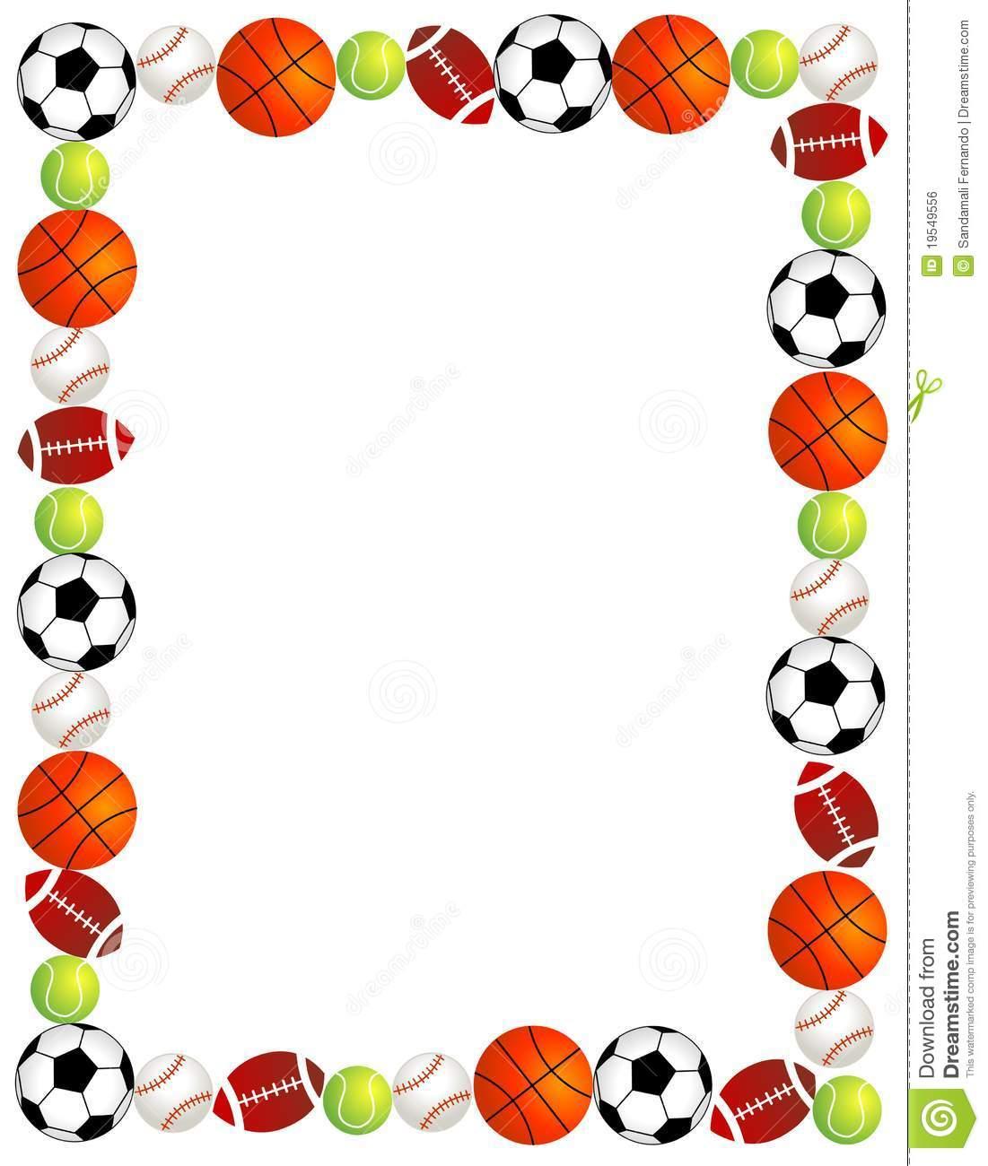 1101x1300 Sports Border Clip Art
