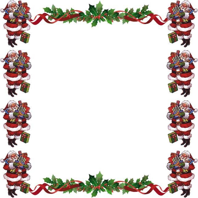 642x642 Free Christmas Card Borders Clip Art