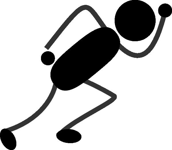 600x524 Running Stick Figure Black Clip Art