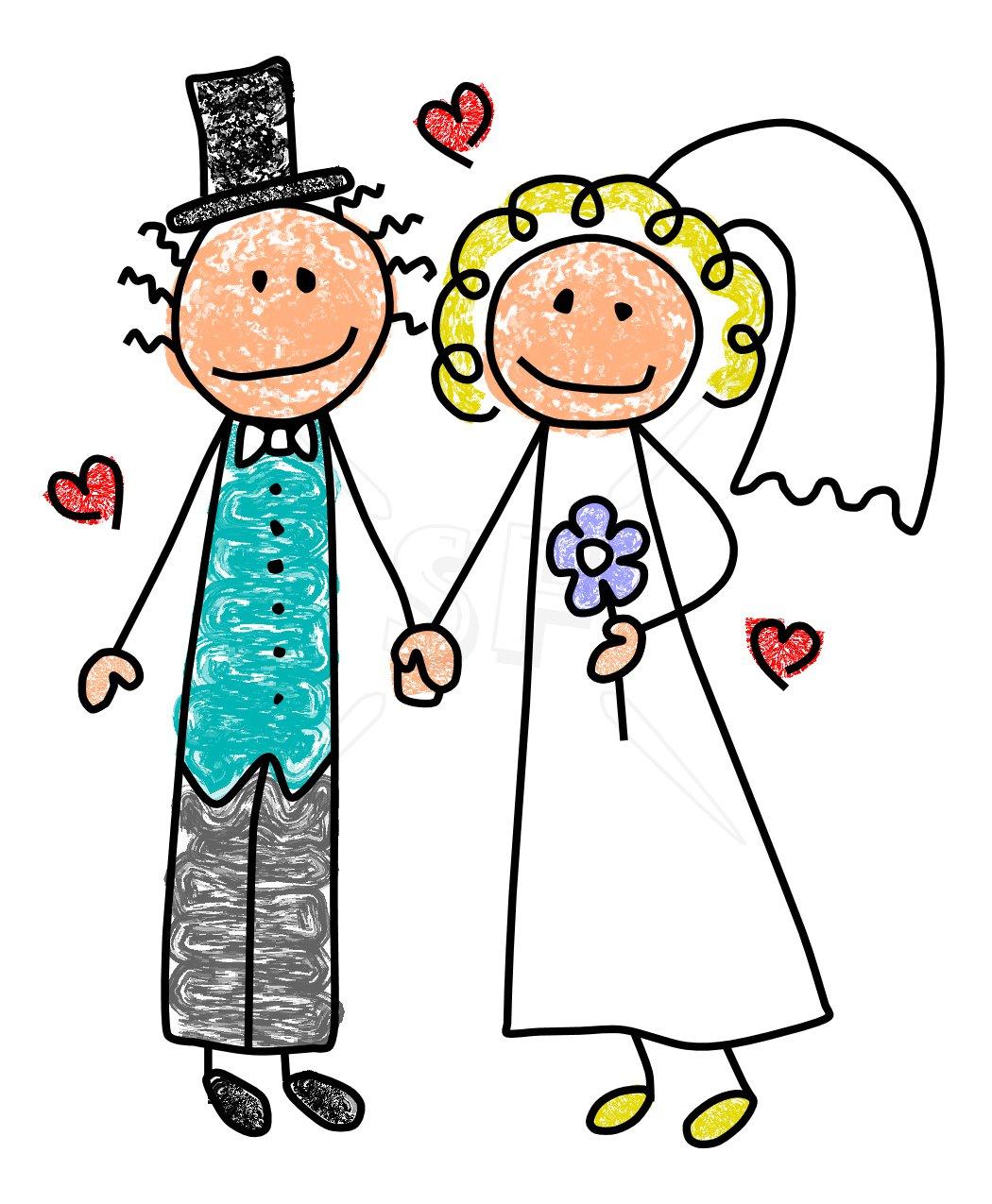 1050x1275 Cute Bride Amp Groom Stick Figures Clipart