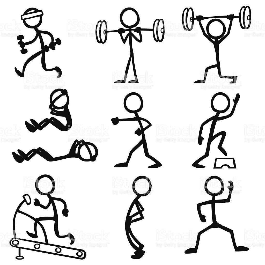 1024x1024 Stickfigure Doing Fitness Related Activities. Stick Figure
