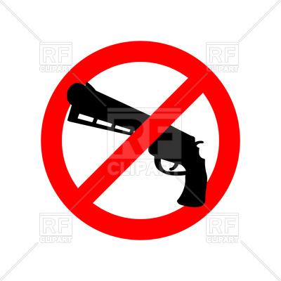 400x400 Stop Gun Sign
