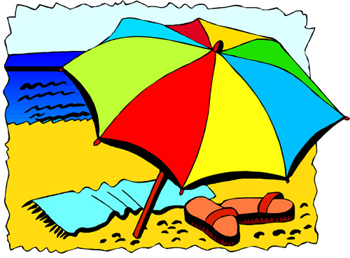 500x369 Summer Beach Clip Art Clipart Panda