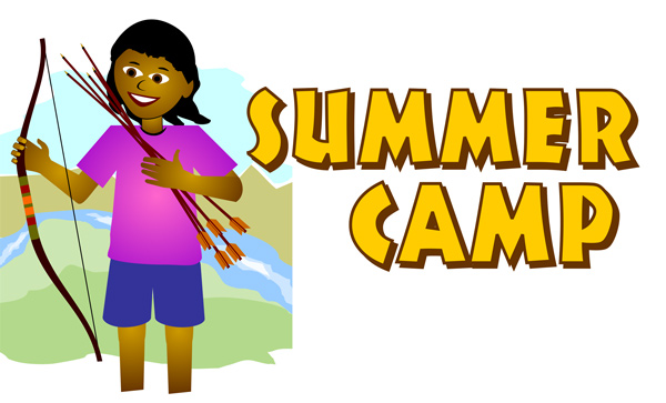 600x363 Free Summer Clip Art Summer Camp Girl With Bow Amp Arrow