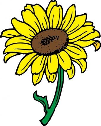 340x425 Sunflower Clip Art Free Printable Clipart 2