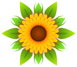 318x277 Sunflower Clipart Free Download Clip Art